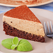 ciasto czekoladowe z musem kawowym
