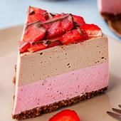 sernik truskawkowo-czekoladowy bez pieczenia