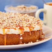 ciasto karmelowe z kremem fistaszkowym