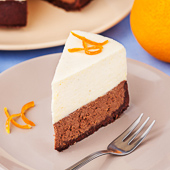 sernik czekoladowy z musem pomarańczowym