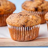muffiny bananowe z czekoladą i orzechami