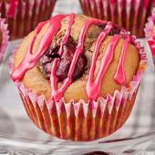 muffiny cappuccino z wiśniami