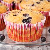 muffiny kokosowe z jagodami (bez tłuszczu)