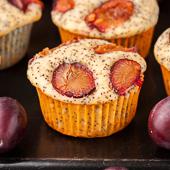 muffiny makowe ze śliwkami