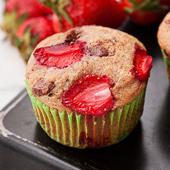 muffiny orkiszowe z truskawkami i czekoladą